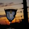 夕日とグラス
