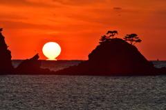 加茂島に沈む