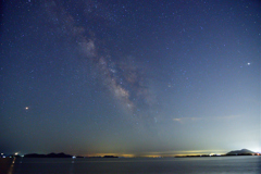 椹野川河口 の夏の夜