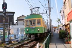 江ノ電(稲村ケ崎)