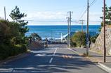 海の見える坂道