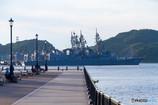 軍艦の見える公園