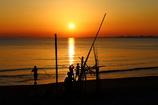 夕陽のモニュメント