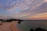 珊瑚礁の夕景