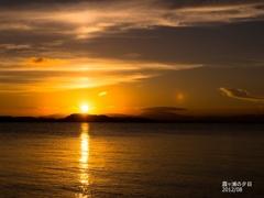 _霞ヶ浦の夕陽