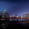 松本城と天の川