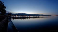 朝の下諏訪港