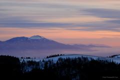 浅間山と雲海と