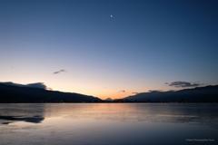 諏訪湖 朝6時半