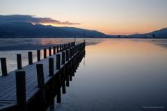 諏訪湖 朝7時