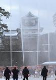 菱櫓と裸放水