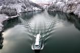 雪景色の庄川峡