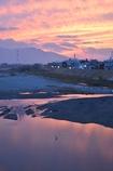 紀ノ川に映る夕焼け