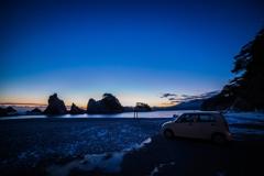 浄土ヶ浜の朝