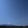 星空と岩手山