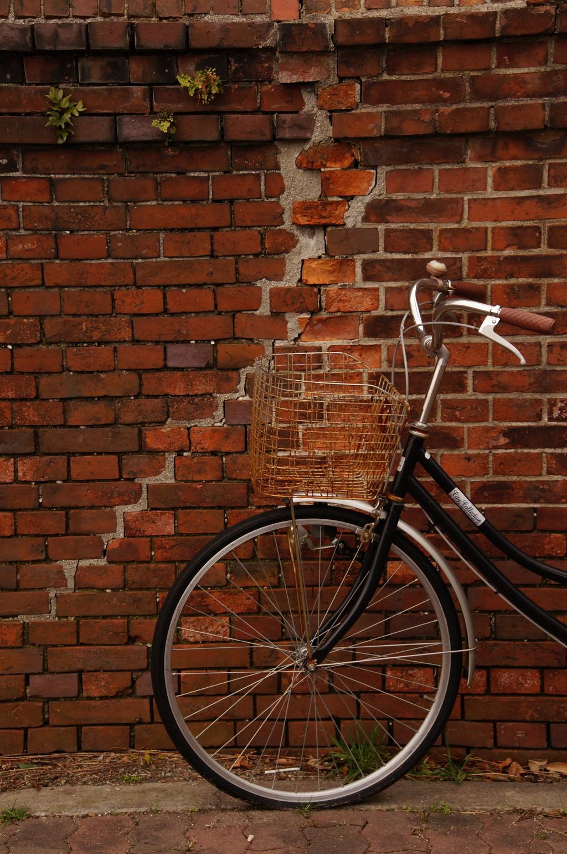 自転車と壁の関係