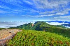 魔王岳からの雲海
