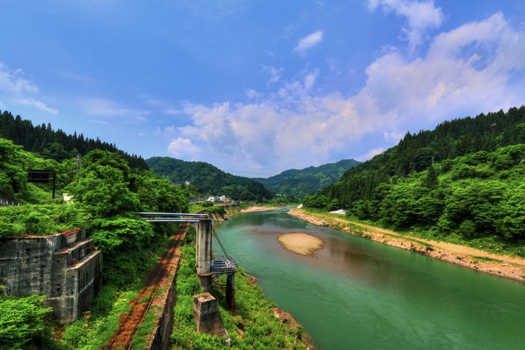 会津川口駅付近の風景(上井草橋...