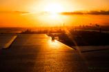 機上の夕陽..#1