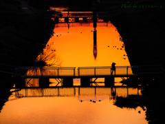 夕暮れの運河(その2) 〜 a photographer 〜