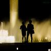 噴水公園の夜..