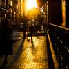 夏・夕暮れの街角