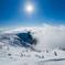 雲上の白い雪原