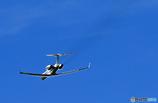 「青空」 小型機ガルフストリーム 飛び立ち