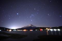 凍てつく夜中の星空と。