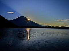 富士と水鳥