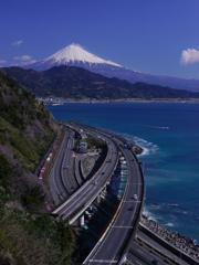 さった峠で富士山