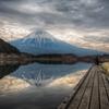 富士山×田貫湖×釣人