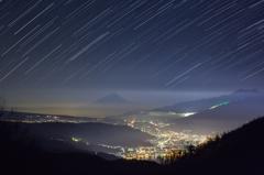 星降る夜の諏訪平
