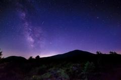 浅間山と満天の星空 〜葉月〜