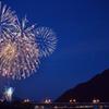 城下町の花火大会、、