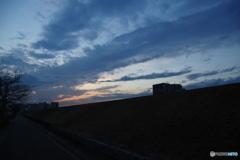 黄昏の隅田川-Ⅱ