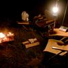 焚火とラジオ