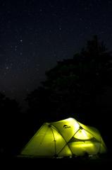 世界遺産の夜空