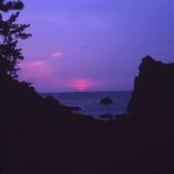 熊本県天草の下田温泉に沈む夕日