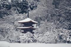 金剛院雪景色