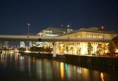 夜の堂島川