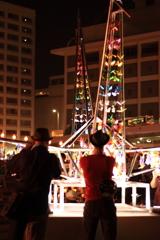 折り鶴キャンドルタワー