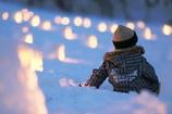 雪あかりきれいだな~♪