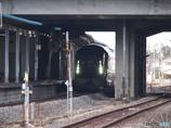 古川駅通過