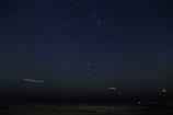 海辺の星空