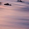 引き波に朝陽