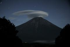 月夜の笠雲