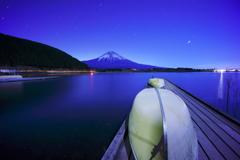 青い富士山