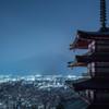 富士吉田の夜桜