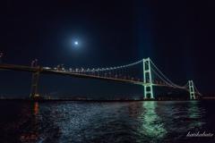 船上からの月夜